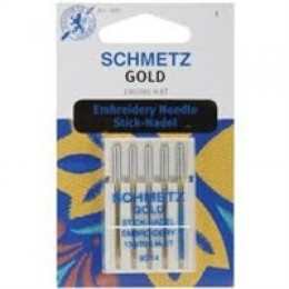 Symaskinenåle, Schmetz Gold Broderinåle, 5-pack #90-30