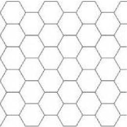 10 ark enkeltsidet hvidt karton (sekskanter) til patchwork, 40x60 cm-30