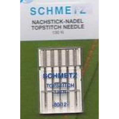 Symaskinenåle, Schmetz Topstitch, 5-pack-no. 90-30